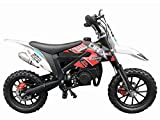 DR-X Kids Dirt Bike Holeshot-X 50cc Gas Power Mini Dirt Bike 20inches Seat Height Dirt Off Road Motorcycle, Pit Bike Fully Automatic Transmission, Red