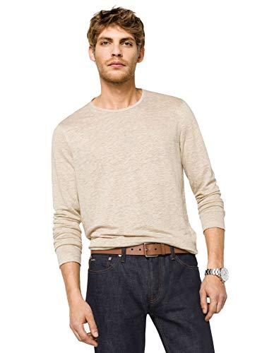 - Michael Kors Mens Linen Pullover Long Sleeve Linen Shirt (Sand Mel, Small)