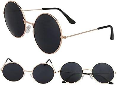 trendy Sonnenbrille im runden Retro-Style 3 Farben rund retrobrille nickelbrille