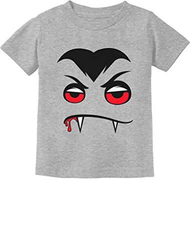 Tstars - Vampire Face Halloween Easy Costume Toddler Kids T-Shirt 3T Gray -