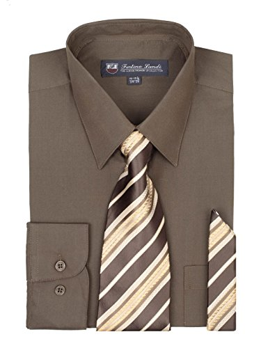 brown dress shirt and tie - 3
