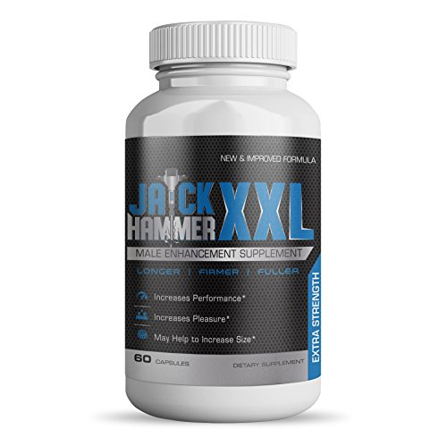 Introducing New Jackhammer XXL | Male Enhancing Pills | Ultimate Male Enhancement Formula for Faster Results & Bigger Gains | Increase Size, Energy & Libido | Prime Test Booster/Workout Supplement - Erectile Enhancement Formula