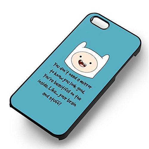 At Cartoon Quote pour Coque Iphone 6 et Coque Iphone 6s Case (Noir Boîtier en plastique dur) V1T3UK