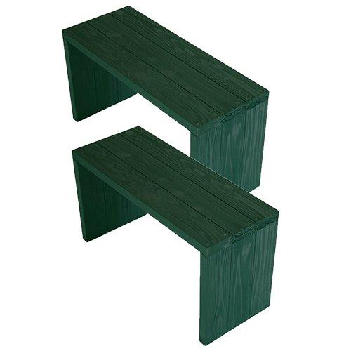 (2台セット)  ウッドステージ ワイド  (長さ66cm x 奥行き27cm x 高さ36cm, GGガーデングリーン) B079Z8XM2N 長さ66cm x 奥行き27cm x 高さ36cm|GGガーデングリーン