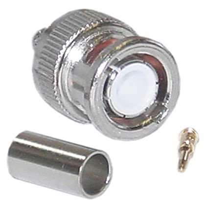 CableWholesale 50-Ohm BNC-Male Crimp LMR195/RG58 Connector (31X1-05500
