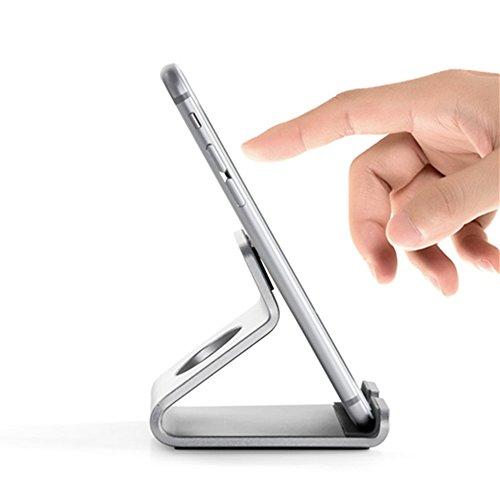 OWIKAR Cellphone Stand Desktop ipad Stand Tablet Tabletop Stand Dock Bracket Aluminum...