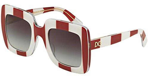 DOLCE & GABBANA Sunglasses DG 4263 30248G Stripe Red/White - Sunglasses New And Dolce Gabbana