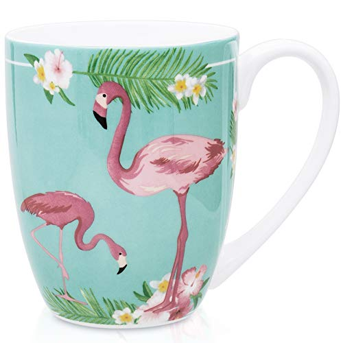 LanHong 12.5 oz Animal Mugs Bone Porcelain Coffee Tea Cup Animal Coffee Mug Cute Animal Cup Gift for Friend Colleague Dad Mom (Animal Cups Coffee)