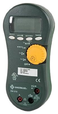 Greenlee DM-310 Averaging Digital Multimeter, 1000-Volt 10A AVG