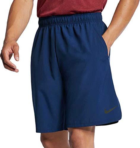 Nike Men's 8'' Flex Woven Training Shorts 2.0(Blue Void/Black,Small)