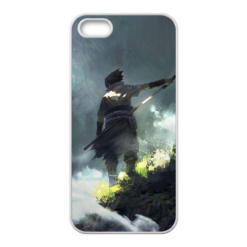 Naruto 015 coque iPhone 4 4S Housse Blanc téléphone portable couverture de cas coque EOKXLKNBC21746