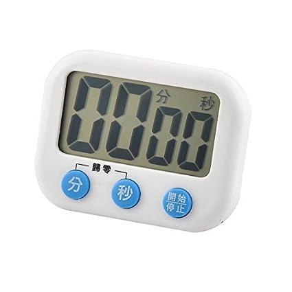 eDealMax ABS LCD Digital segundo minuto de cuenta atrás Hasta reloj temporizador Blanco Azul