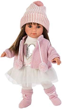 Llorens 53528 Sara brünett 35cm Puppe, Mehrfarbig