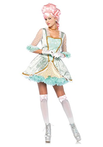 Leg Avenue Women's Deluxe Marie Antoinette Costume, Green/Gold, Medium (Marie Antoinette Halloween Costume)