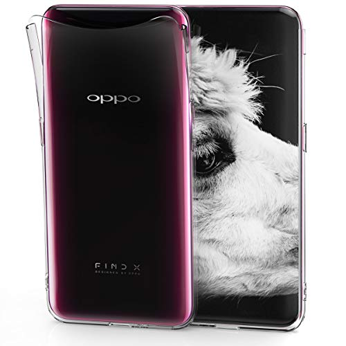 kwmobile Crystal Case for Oppo Find X - Soft Flexible TPU Silicone Protective Cover - Transparent