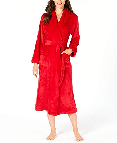 Charter Club Super-Soft Long Robe Candy Red Size Large