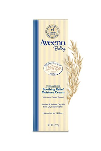 Large Product Image of Aveeno Baby Soothing Relief Moisturizing Cream with Natural Oat Complex for Dry Sensitive Skin, Fragrance-free & Paraben-Free, 8 oz