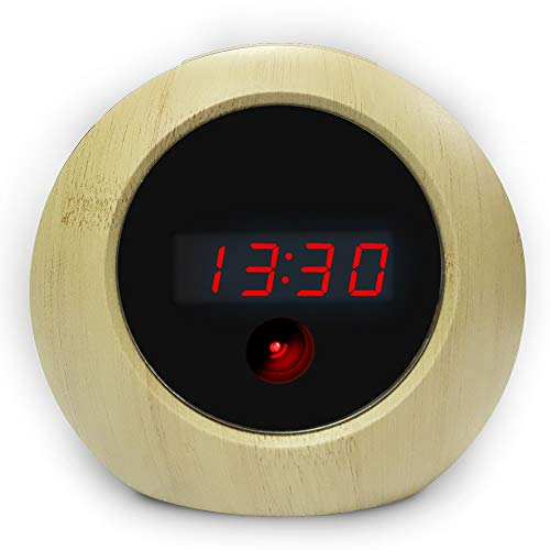 - Spy Camera Alarm Clock HD 1080P Hidden Camera Motion Activated Video Recording Nanny Cam for Home Security Video Camera