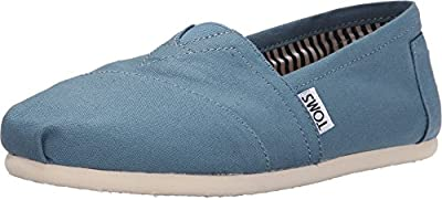 TOMS Women's Classics Aegean Blue Canvas Loafer