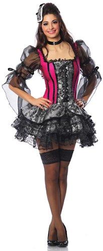 (Delicious Queen Antoinette Sexy Costume, Black/Red,)