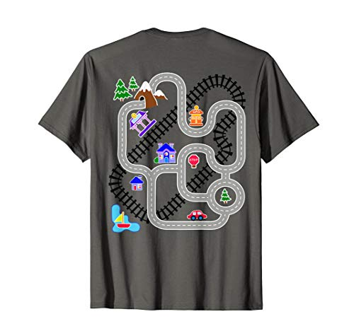 Mens Novelty Gifts for Fathers Day Car Train Playmat Rug T-Shirt
