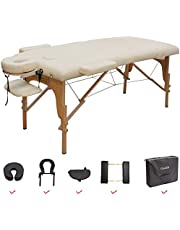 GreenLife® Basic™ Super Stable 28 Inches Width Height Adjustable Portable 2 Fold Massage Reiki Facial Table Bed with Free Carrying Bag & Head Rest & Arm Rests