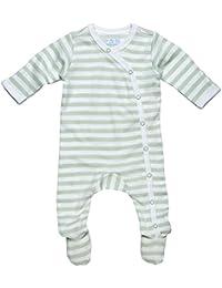 Preemie Footies and Rompers-Under The Nile Unisex-Baby Newborn Stripe Footie