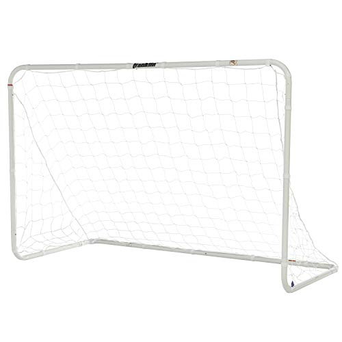 Franklin Sports Competition Soccer Goal - Soccer Net - Soccer Goal for Backyard - Steel Construction - 6 Ft by 4 Ft
