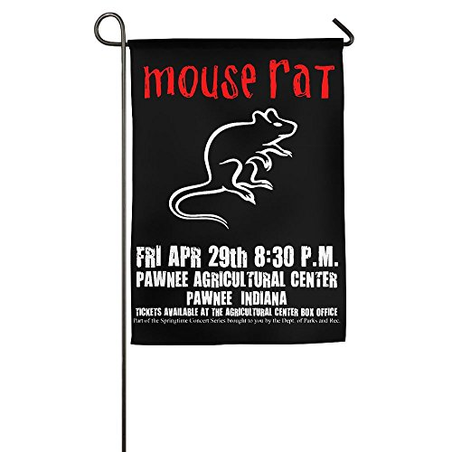 LLiYing-D Parks And Recreation Mouse Rat Circle Graphic Present Flag