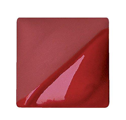 AMACO Velvet Lead-Free Non-Toxic Semi-Translucent Underglaze, 1 pt Jar, Bright Red V-387 (Amaco Red Glaze)