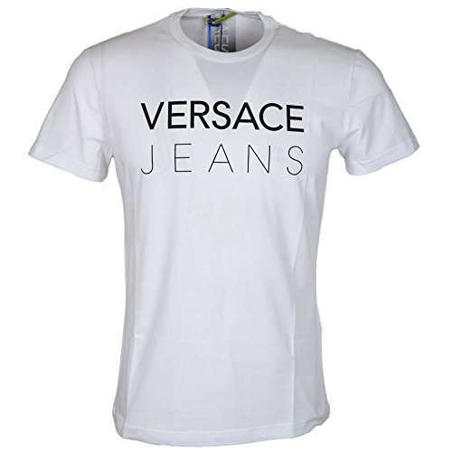 Versace Jeans Jersey Stretch Ananke Slim Fit White T-Shirt XL (Versace Jersey T-shirt)