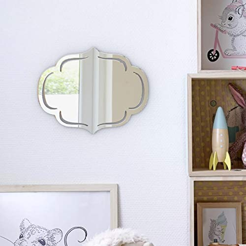 BackgroundTurnOver Makeup Mirror Gift for Women Modern Round Glass Console Venetian Wall Decorative 3mm Thick 3D Acrylic Decorative Dresser Mirror M036