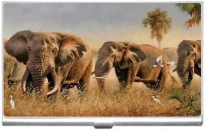 New Elephant Herd Business Credit Card Holder Case