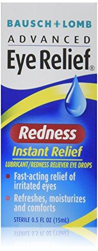 Bausch & Lomb Advanced Eye Relief Redness Instant Relief Eye Drops 0.50 oz (Pack of (Advanced Redness Reliever Eye Drops)