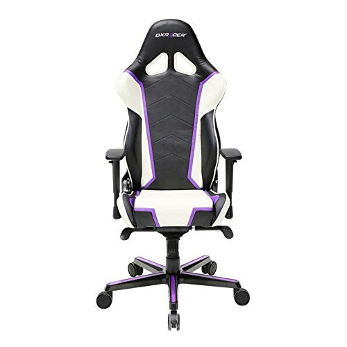 41rtQuIDMQL - DXRacer-OHRH110NWV-Black-White-Racing-Series-Gaming-Chair-High-back-Ergonomic-Home-Office-Adjustable-Swivel-Racing-eSports-Computer-Chair-with-Lumbar-Cushion-and-Headrest-Pillow