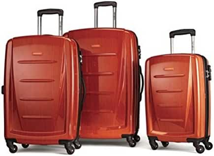 Samsonite Winfield 2 Fashion 3 Piece Spinner Nesting Set (3 pc Set Deep Orange)