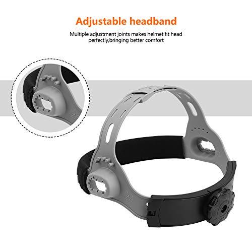 Durable Solar Powered Welding Helmet Auto Darkening Professional Hood with LED Digital Display Accurate Adjustable Shade Range 4/5-8/9-13 for Mig Tig Arc Weld Grinding Welder Mask by DEKOPRO (Image #7)
