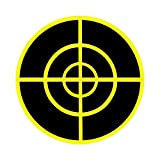 "Pop Resin (Qty 250pcs 3.25"") Splatter Target Sticker - Instantly See Your Shots Burst Bright Florescent Yellow Upon Impact!"