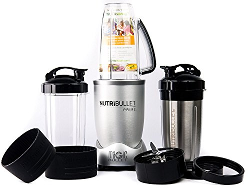 NutriBullet PRIME 12-Piece High-Speed Blender/Mixer System include Stainless Steel Cup, Silver (Certified Refurbished)