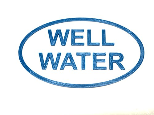 Well Water notice Plaque- Irrigation Sign Blue/White ver 2 (Notice Water)
