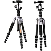 K&f Concept TM2235 Compact Camera Tripod 50 inch Lightweight Travel Tripods with Professional Ball Head Quick Release for DSLR DV Canon Nikon Sony