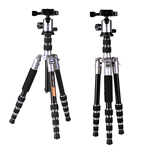 K&f Concept Compact Tripod 50 Inch 2.69lbs Lightweight with Professional Ball Head Quick Rlease for DV Canon Nikon Sony DSLR Cameras - Professional Dslr Tripod