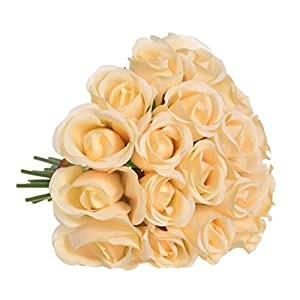 Iusun Artificial Flower 18 Head Roses Floral Bridal Wedding Bouquet Centerpieces Arrangements Party Festival Holiday Home Office Hanging Road Lead Decorations Valentines Gift Hot Ornament 51