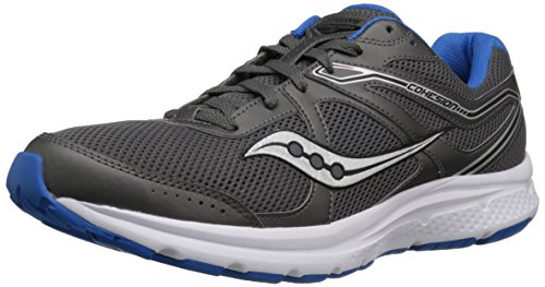 Saucony Men's Cohesion 11 Sneaker, Charcoal/Blue, 10 M US