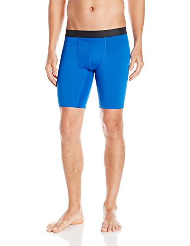 Hanes Men's Sport Performance Compression Short, Awesome Blue/Ebony, Small