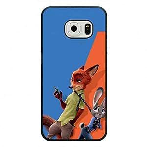 Fashion Samsung Galaxy S6 Edge Cover Zootopia Protective Funda,Walt Disney Animation Zootopia Judy Hopps and Nick Wilde Funda