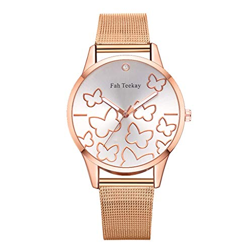 Dial Canvas - Extremely Simple Ladies Analog Quartz Watch,Waterproof Round Digital Butterfly Flying Dance Dial - Canvas Strap Band Wrist Watch