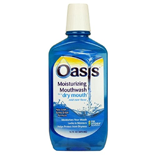 Oasis Moisturizing Mouthwash For Dry Mouth Mild Mint, Mild Mint - 16 oz (Pack of 4) by Emerson by Oasis