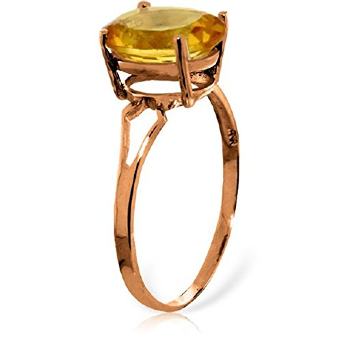 Oval Ring Citrine Shaped (Galaxy Gold 14k Rose Gold Ring with Oval-shaped Citrine - Size 8)