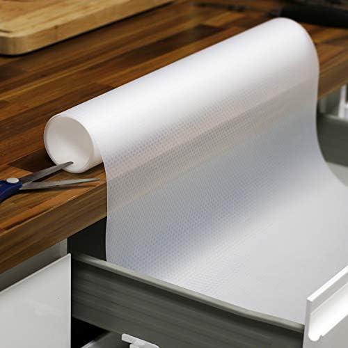 Protection darmoire 3 rouleaux Doublure de comptoir personnalisable Doublure de tiroir d/étag/ère et de tiroir Tapis de r/éfrig/érateur lavable et /étanche Pukkr